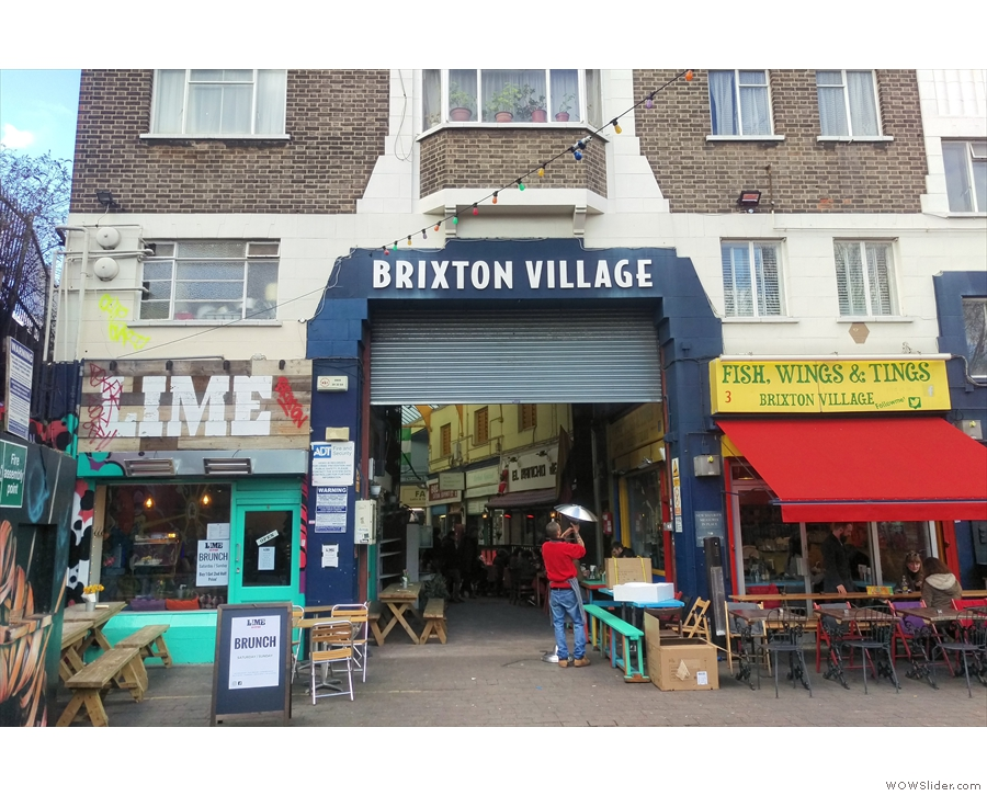 Brixton Village, a collection of indoor market arcades, home to many eateries, cafes and...