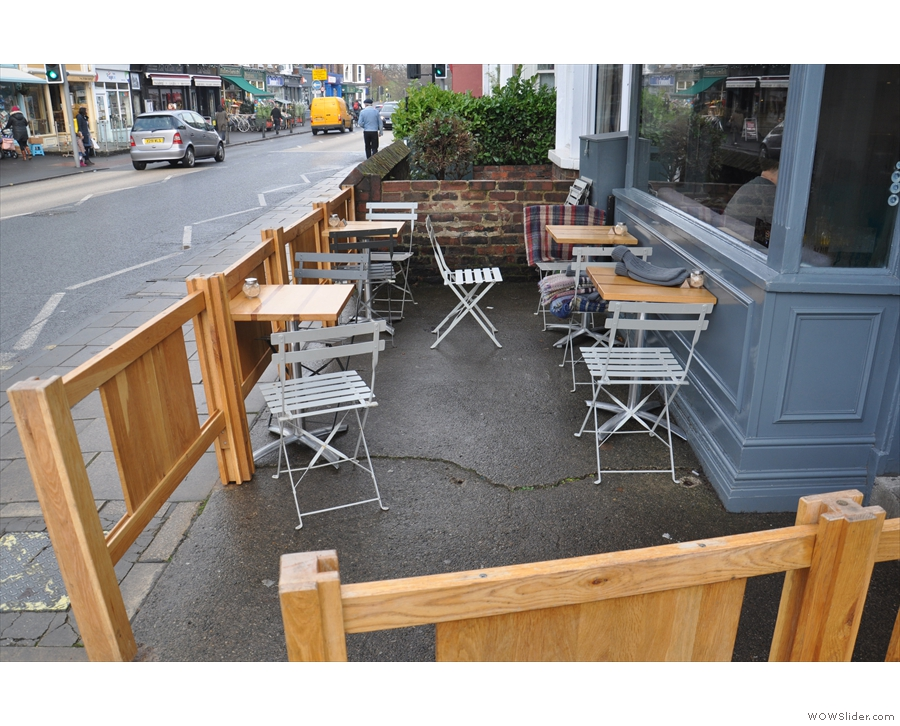 Sadly the neat outside seating area was not ideal on a rainy Wednesday in December.