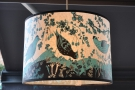 One of the lampshades in more detail.