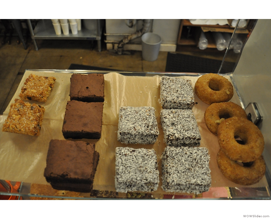 ... including doughnuts (very American) and Lamingtons (very Australian).