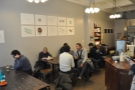 ... and another communal table on the left, opposite the counter.