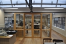 ... and a lab/cupping room (ahead).