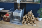 Check out the wood-buring stove!
