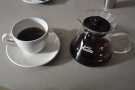 My coffee in the cup, a lovely, smooth La Esperanza from Guatemala.