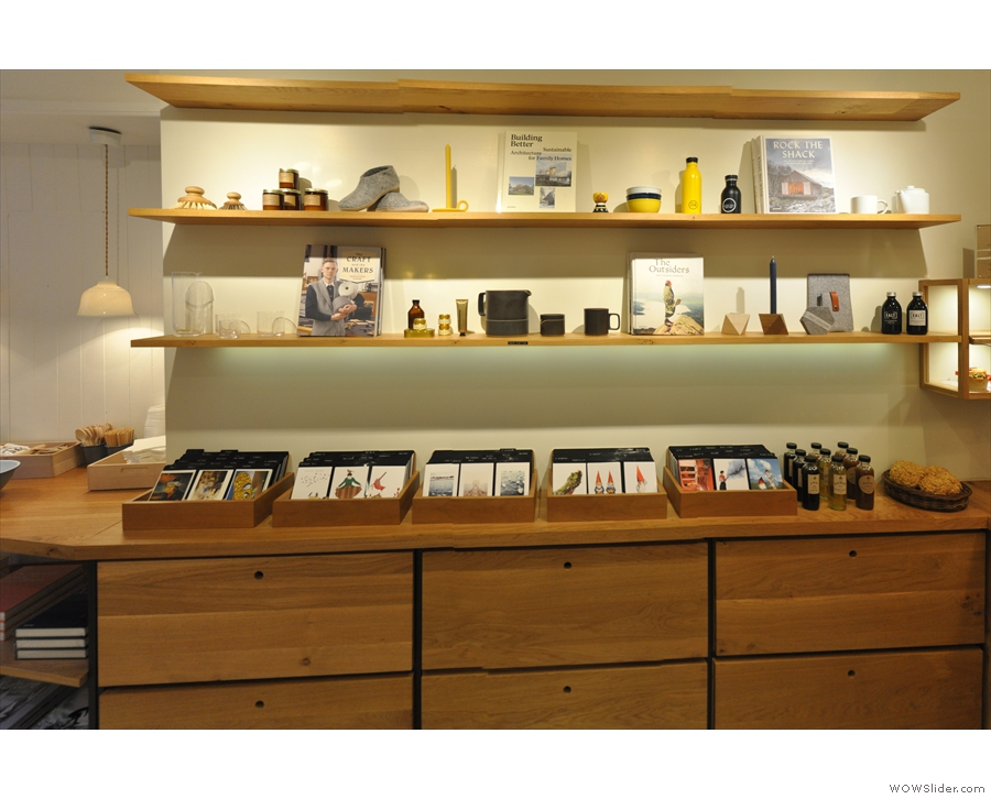 Books, cards and lots more besides can be had on these cases on the left-hand side...