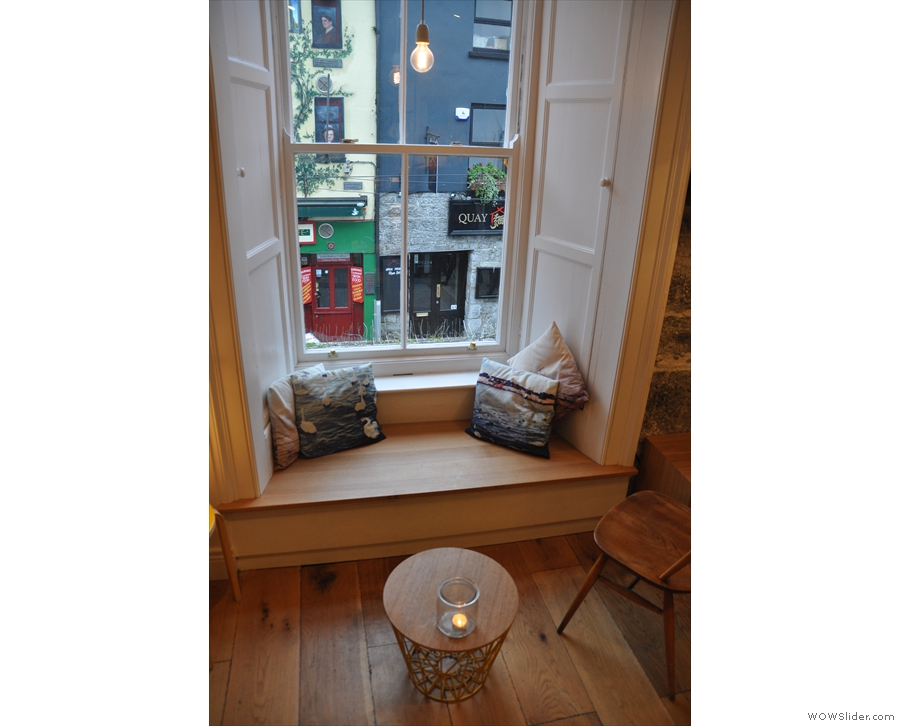 Talking of the window, you can sit there if you like...