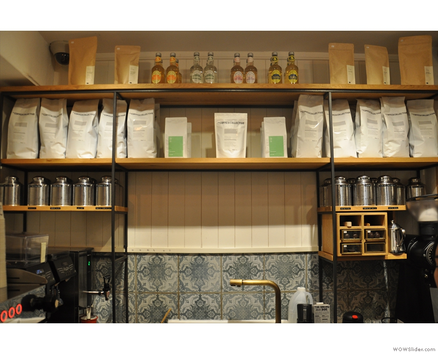 The house espresso blend is from Coffee Collective in Copenhagen.