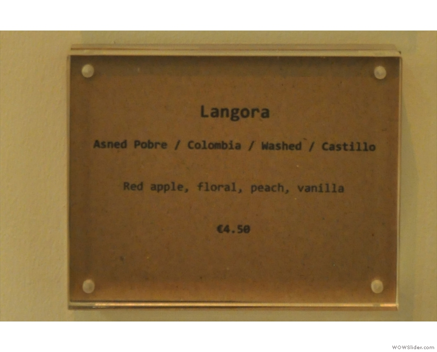 ... while finally, there's a new roaster for me, Langøra from Norway.