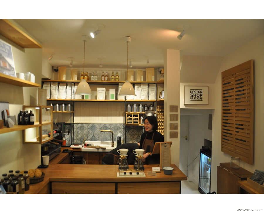 ... which is where you'll find the counter and, more importantly, coffee!!!
