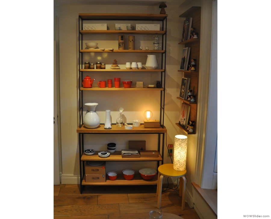 ... and over by the door, lots more crockery.