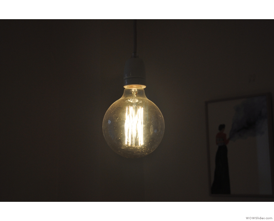 ... and this more conventional exposed light bulb.