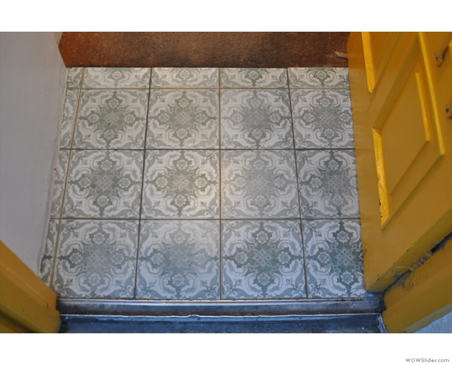 Nice tiles on the doorstep!