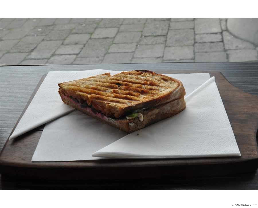 I'll leave you with my goat's cheese toasty, which I had for lunch.