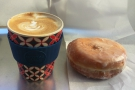 I started with a cappuncino in my Ecoffee Cup. Plus the last doughnut. It looked lonely!