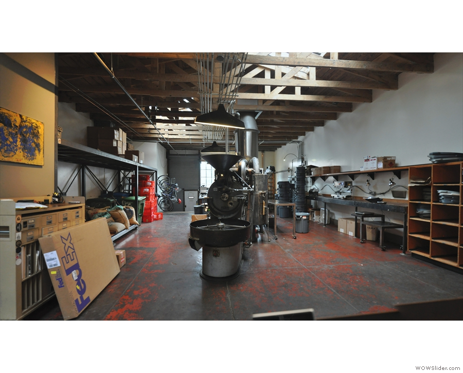 The roastery is a large space at the back, although it's no longer used for production roasting.