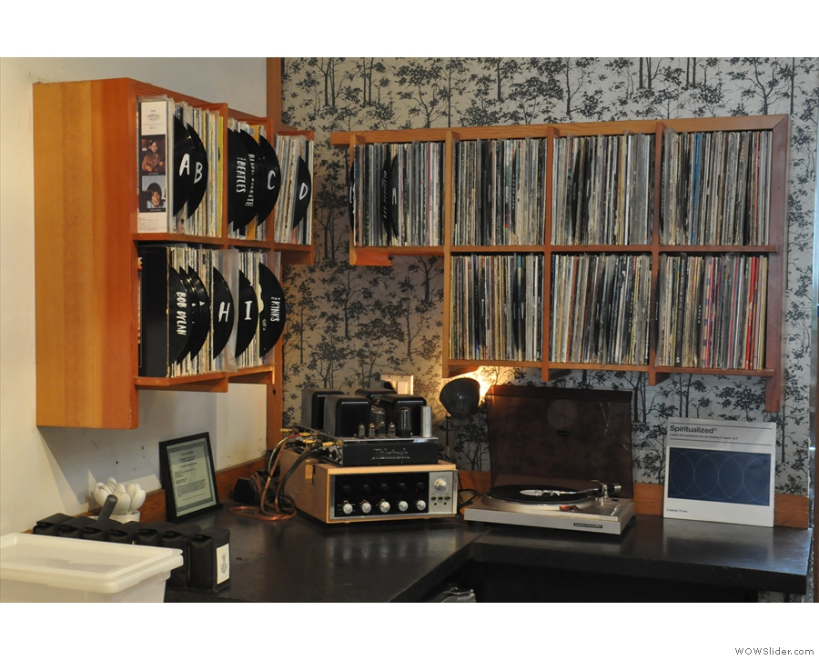 The staff, by the way, have access to a large vinyl library and a turntable.