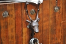 This neat stag's head is a hook for a chain, designed to close off access to the roastery.