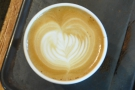 Scott wasn't happy with his latte art for my coffee, so he made me take a photo of this one.
