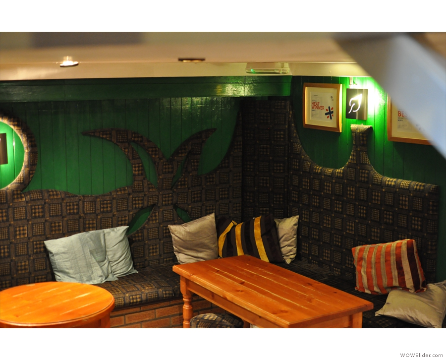 However, it didn't always look like this: back in the day, the decor was predominantly green!