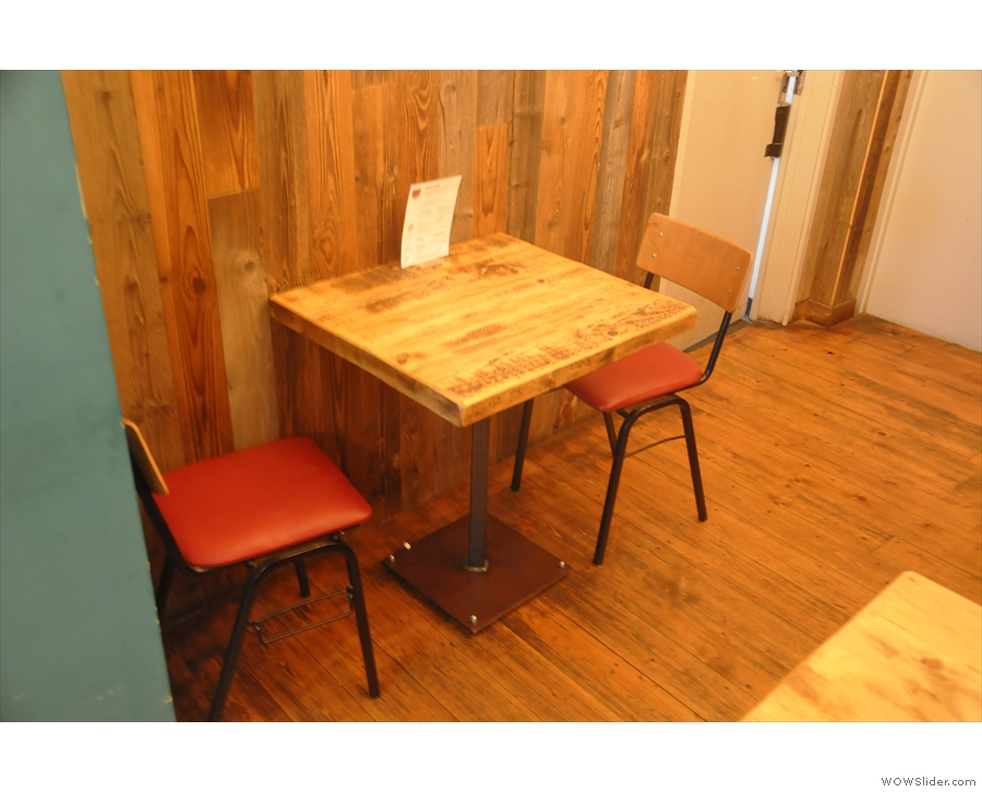 ... and this two-person table on the left.