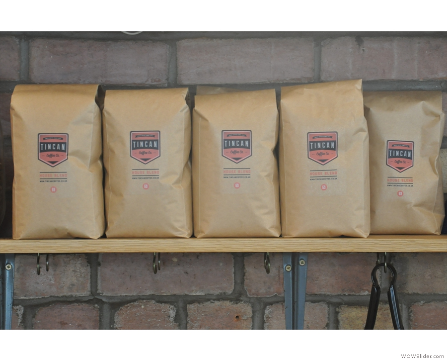 There's a bespoke seasonal house blend roasted by Clifton Coffee Roasters.