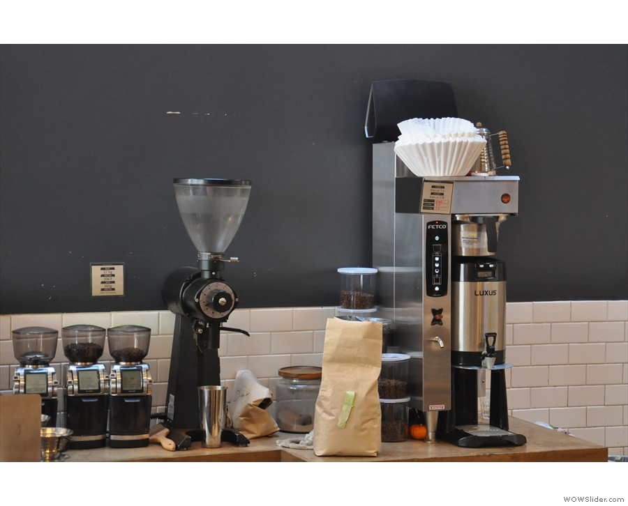 Instead this is where the pour-over and bulk-brew fiter is made.