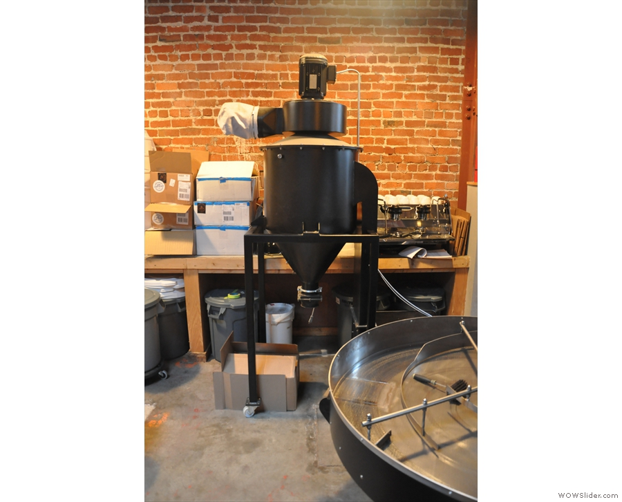 More roastery kit: I think this one removes stones from the green beans before roasting.