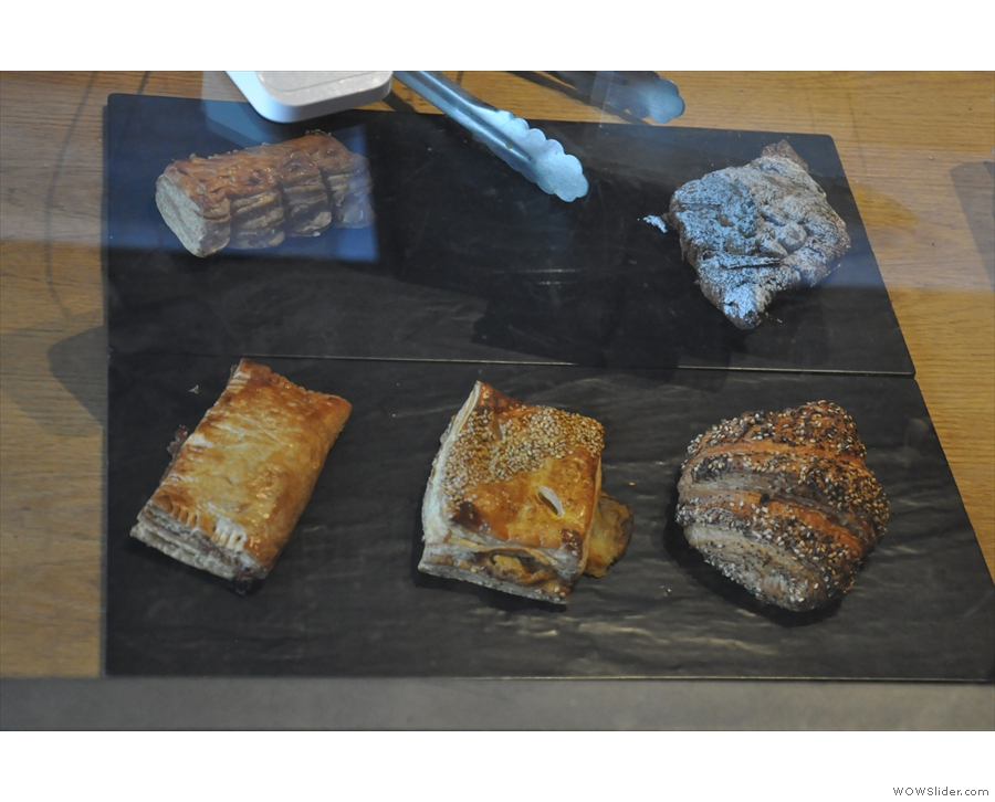 As well as all this coffee/tea, there's also a small selection of pastries.