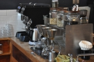 Although this looks like it's the pour-over station, the Silverton drippers are used to make tea.