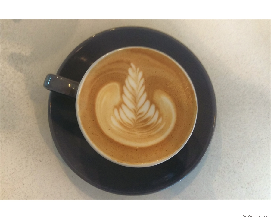 ... with some more execllent latte art, which also lasted to the...