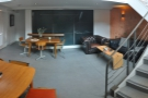 A panorama of basement, which only goes half way back, but is very naturally bright.