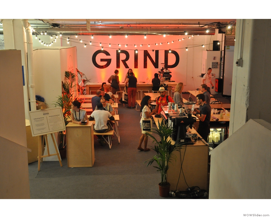 New for 2017, the Grind pop-up restuaurant, which offered an all-day walk-up service...