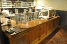 The large space extends back from the retail area with the counter on the left...