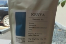 I also bought a bag of the Kenya Kainamiu to take up to Glasgow with me.