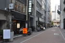 On a back street in Ginza, downtown Tokyo, just follow your nose...