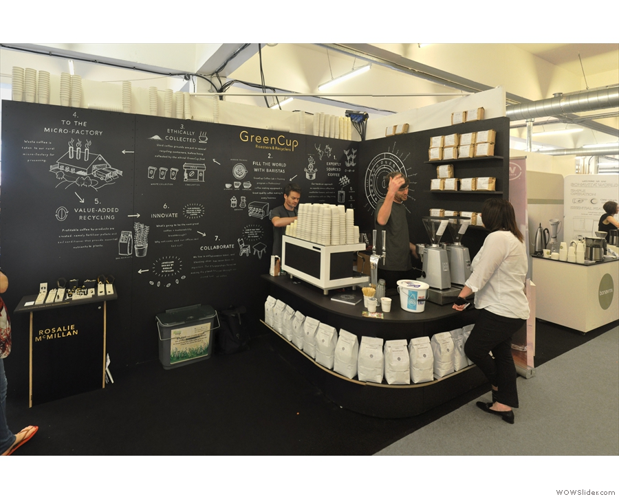 The Green Cup stand at this year's London Coffee Festival.