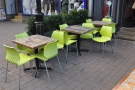 There's plenty of outside seating though. I particularly liked the bright green chairs.