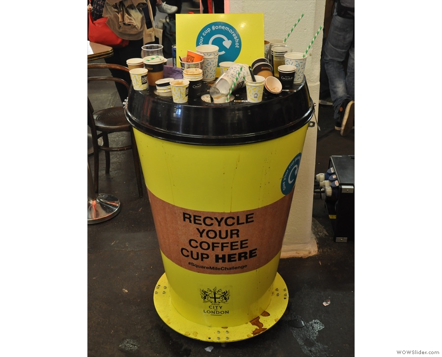 A welcome addition this year: recycling bins, but there weren't nearly enough of them!