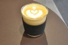 Here's my SoL cup with a cappuccino at Sarutahiko Coffee Omotesandō in Tokyo.