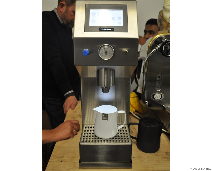 Introducing the Ubermilk automated milk frother. It looks pretty simple...