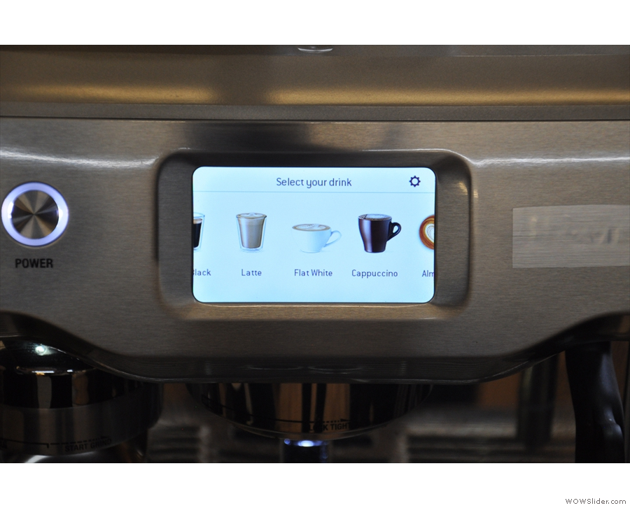 ... which is controlled by a touch screen. Just select the drink you want!