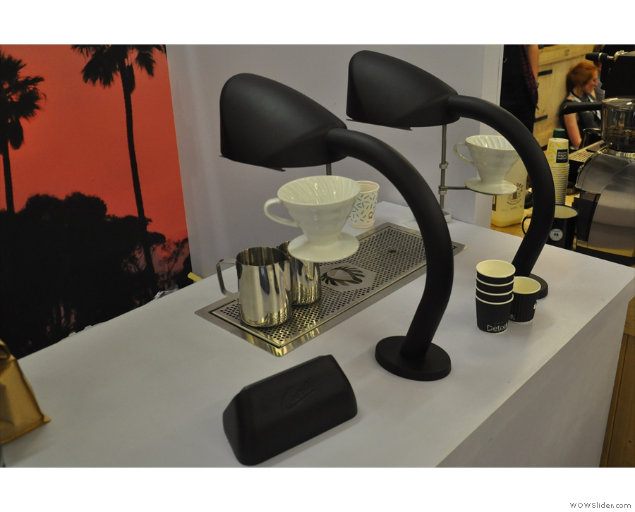 I saw this automated pour-over machine last year & have since seen it in action in cafes.