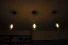 There were also some slightly more conventional lights hanging above the counter...