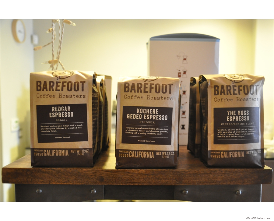 ... which includes a selection of espresso blends...