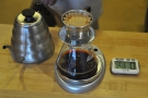 The basic recipe calls for 22g of ground coffee and 400ml of water.