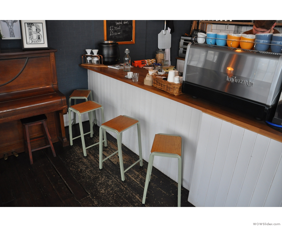 The final seating option is to perch at the counter on one of these bar stools.