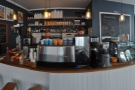 The coffee part of the operation sits front and centre...