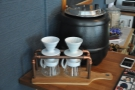 There's pour-over if you fancy it from these V60s at the end of the counter.
