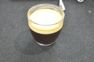 The end result: an exceptionally bad photograph of an exceptionally good Irish coffee.