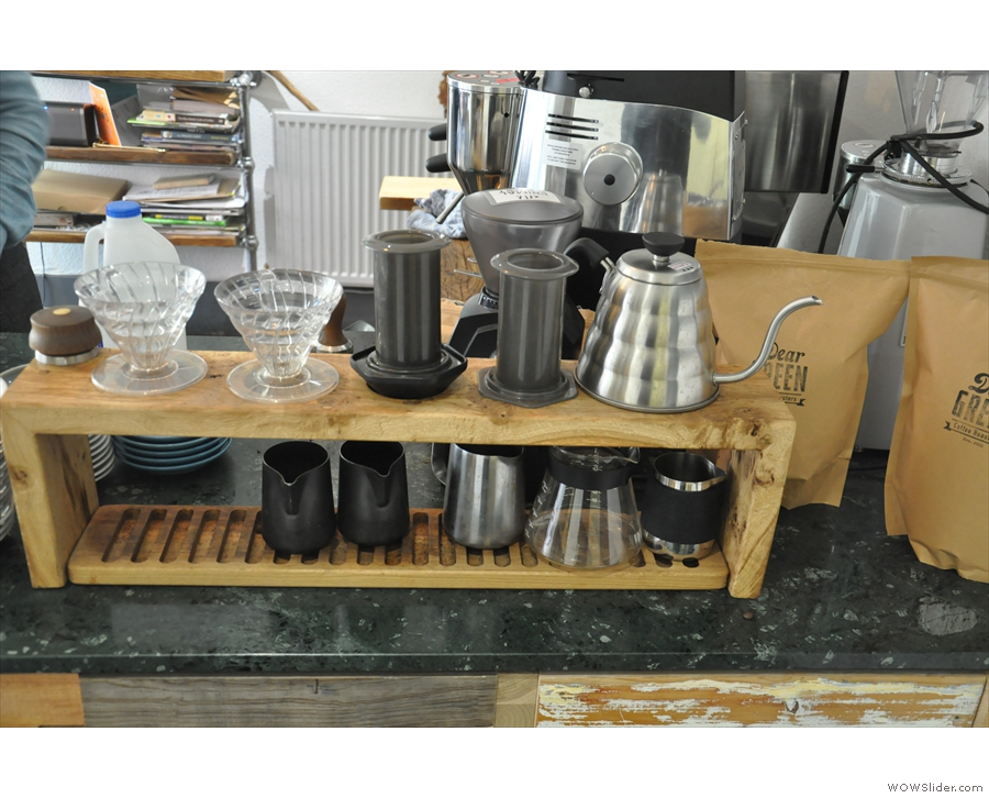 As well as the usual espresso-based fare, there's also a brew bar, with V60 & Aeropress.
